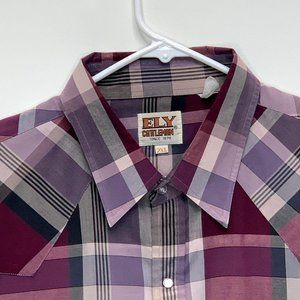Ely Cattleman Pearl Snap Shirt Multicolor 2XL